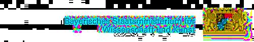 Logo bayerisches Ministerium für Kunst & Wissenschaft