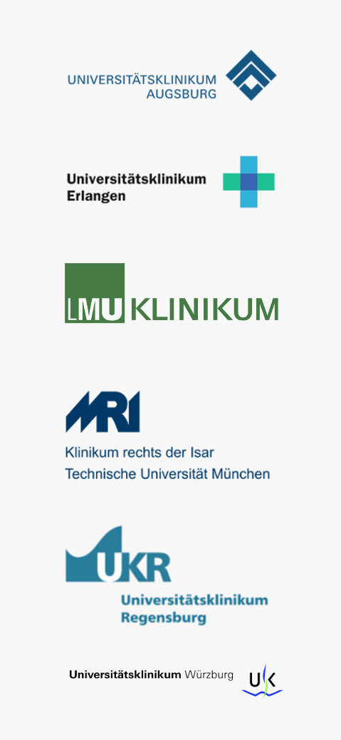 Logos der sechs bayerischen Universitäten