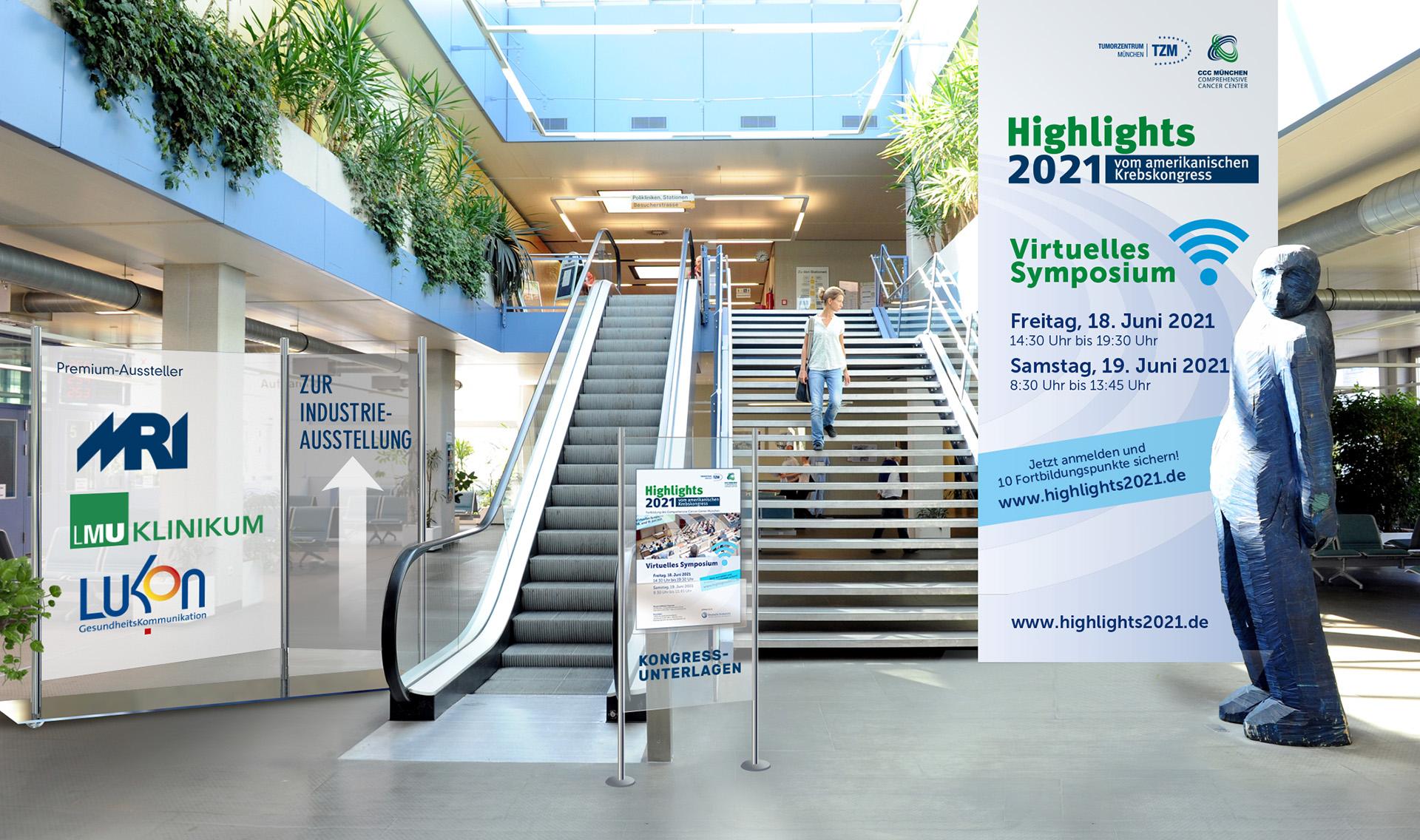 Titelbild für die Weiterbildung mit den Highlights vom amerikanischen Krebskongress 2021 des CCCs München