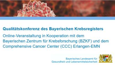 Qualitätskonferenz des Bayerischen Krebsregisters